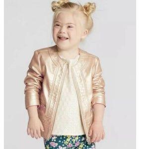 Genuine Kids Oshkosh Faux Leather Moto Jacket NEW